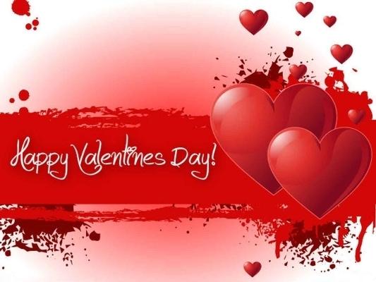 Trái tim truyền thống trong ngày Valentine.