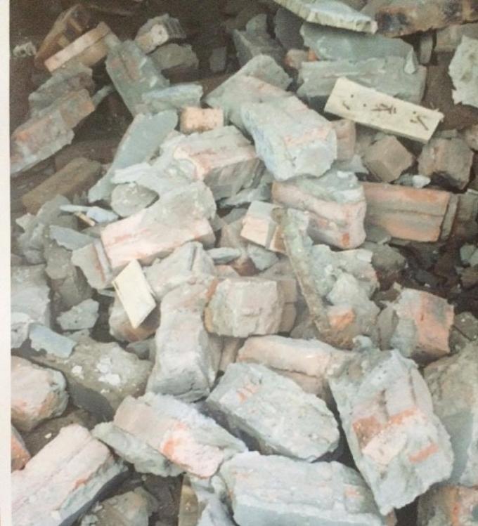 Toàn bộ phần gạch xây dựng sai phép đã bị tháo dỡ.