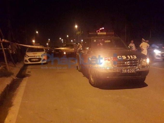 Hiện trường vụ thanh niên 9X đâm thủng cổ, cướp tài xế taxi trên đường Võ Chí Công.
