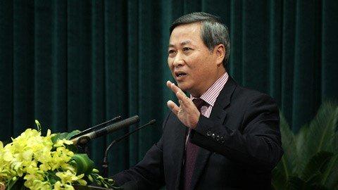 Ông Phí Thái Bìnhnguyên chủ tịch HĐQT Tổng công ty Vinaconex, nguyên Phó chủ tịch UBND TP Hà Nội. (Ảnh Vietnamnet)