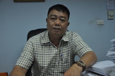 Ông Nguyễn Tô An, Trưởng phòng Chất lượng xe cơ giới, Cục Đăng kiểm Việt Nam trao đổi với phóng viên.