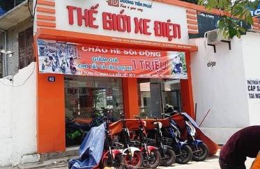 Đại lý bán xe đạp điện ở đường Cầu Diễn (quận Nam Từ Liêm, TP Hà Nội).