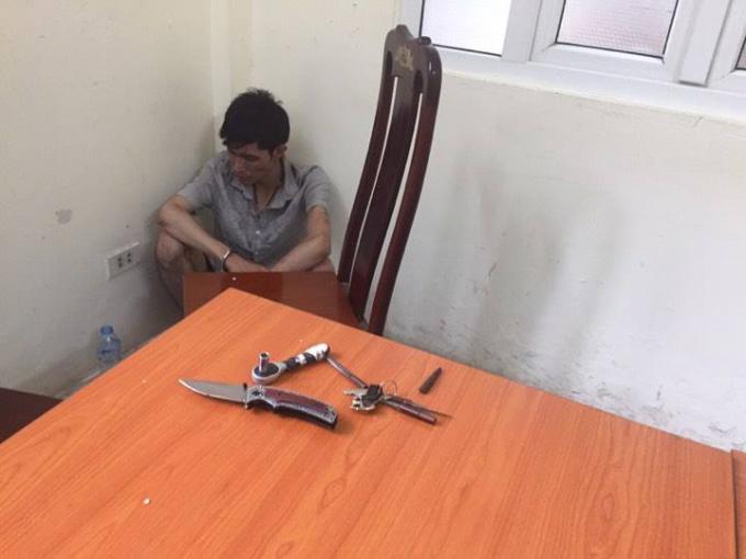 Tang vật mà đối tượng Trần Việt Anh sử dụng gây án và đâm trọng thương trung uý CSGT.