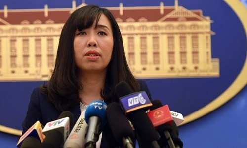 Người phát ngôn Bộ Ngoại giao Việt Nam Lê Thị Thu Hằng (ảnh: Việt Anh)