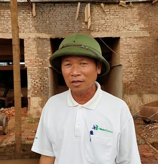 Ông Bùi Văn May người bị chính quyền huyện Ninh Giang và UBND xã Hồng Phong gây áp lực, dùng mọi biện pháp để gia đình ông tháo dỡ lò gạch.