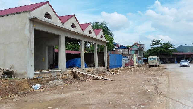 Chợ Bắc Sơn nơi xảy ra sự việc UBND thị xã Phổ Yên tiến hành thu hồi cưỡng chế trái luật.