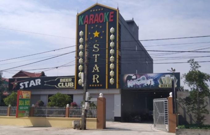 Hiện trường quán karaoke Star ở huyện Tứ Kỳ (Hải Dương) nơi xảy ra vụ án mạng.