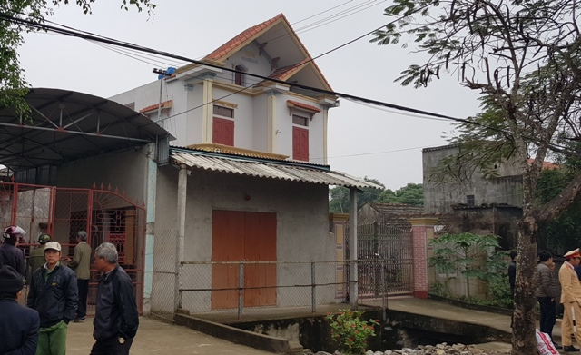 Căn nhà nơi xảy ra vụ án mạng đau lòng.