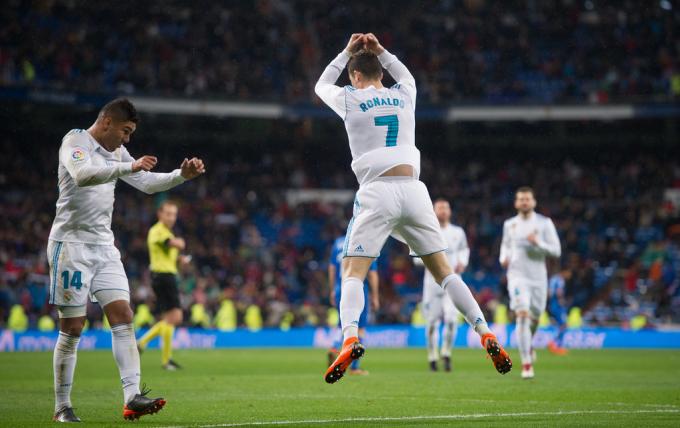 Ronaldo ghi bàn ấn định tỷ số cho Real.