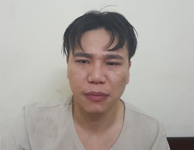 Ca sỹ Châu Việt Cường khi bị bắt tại cơ quan Công an.