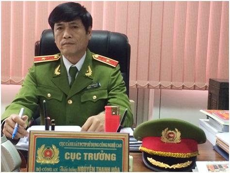 Ông Nguyễn Thanh Hoá khi còn giữ cương vị Cục trưởng Cục C50, Bộ Công an.
