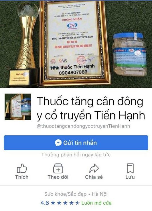 Nhiều người tiêu dùng bị mắc bẫy coi mình như con chuột bạch vì những chiêu trò quảng cáo của thảo dược tăng cân dành cho người gầy - Đông y cổ truyền của bà Nguyễn Thị Hạnh được tặng cúp vàng trong tốp 10 thương hiệu an toàn.