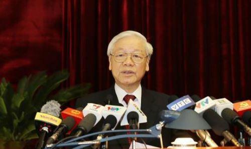 Tổng Bí thư Nguyễn Phú Trọng có bài phát biểu quan trọng, khai mạc Hội nghị lần thứ 7 Ban Chấp hành Trung ương Đảng khoá XII.