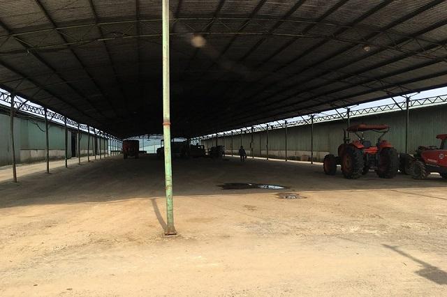 Khu nhà xưởng vắng lặng sau 3 năm triển khai.