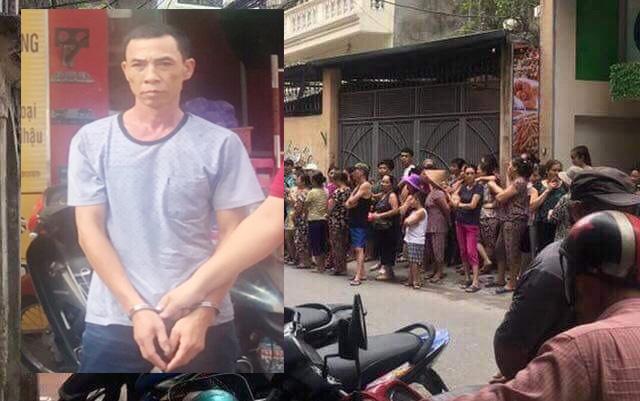 Chân dung đối tượng Nguyễn Trọng Nghĩa và hiện trường xảy ra vụ án.
