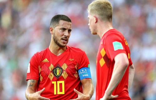 Sở hữu dàn sao hàng đấu thế giới tuy thi đấy trên chân nhưng phải đến hiệp 2 đội tuyển Bỉ mới thực sự bùng nổ.