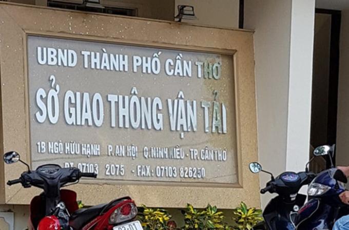 Sở GTVT Cần Thơ. Ảnh:Việt Tường.