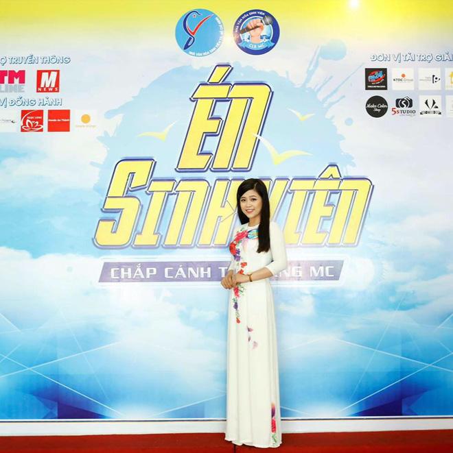 Cô từng lọt vào top 18 của cuộc thi Người dẫn chương trình Én sinh viên.(Ảnh: FBNV)