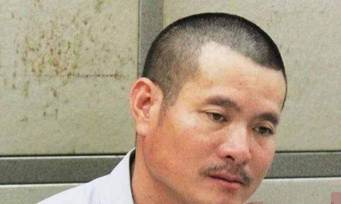 Triệu Văn Hải tại cơ quan công an.