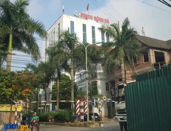 Trụ sởCông ty cổ phần Simco Sông Đà nơi đang có tranh chấp với ông Thắng.