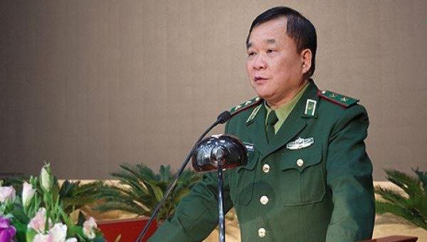 Trung tướng Hoàng Xuân Chiến - Tư lệnh Bộ đội biên phòng, phát biểu chỉ đạo tại buổi làm việc