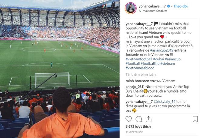 Cabaye đến xem đội tuyển Việt Nam thi đấu tạiAsian Cup 2019.