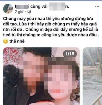 Trước khi gây án mạng, Thái đăng nhập facebook của bạn gái và để lại những lời đe doạ.