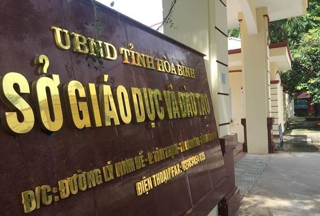 Sở GD&ĐT tỉnh Hòa Bình.