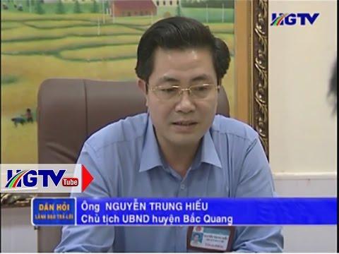 Ông Nguyễn Trung Hiếu, Chủ tịch UBND huyện Bắc Quang, tỉnh Hà Giang. (Ảnh: HGTV.)