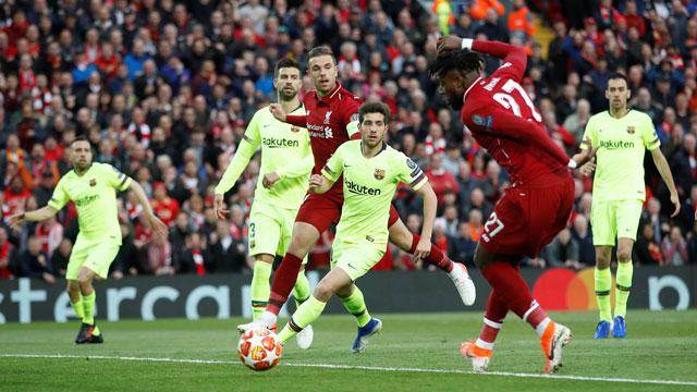 Origi mở ra hy vọng từ rất sớm cho Liverpool với bàn thắng ở phút thứ 7. Ảnh Getty