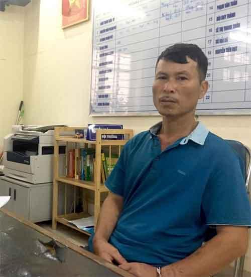 Đối tượng Hà Văn Hiền tại cơ quan Công an.