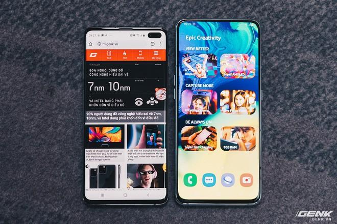 Samsung Galaxy A80. Ảnh Genk.