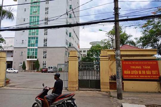 Trung tâm HL-TĐTDTT tỉnh Thanh Hóa nơi 3 lãnh đạo và nguyên lãnh đạo bị bắt giam