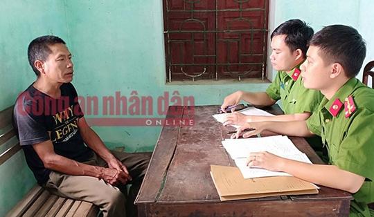 Phan Đình Thành tại cơ quan điều tra - Ảnh: Công an nhân dân