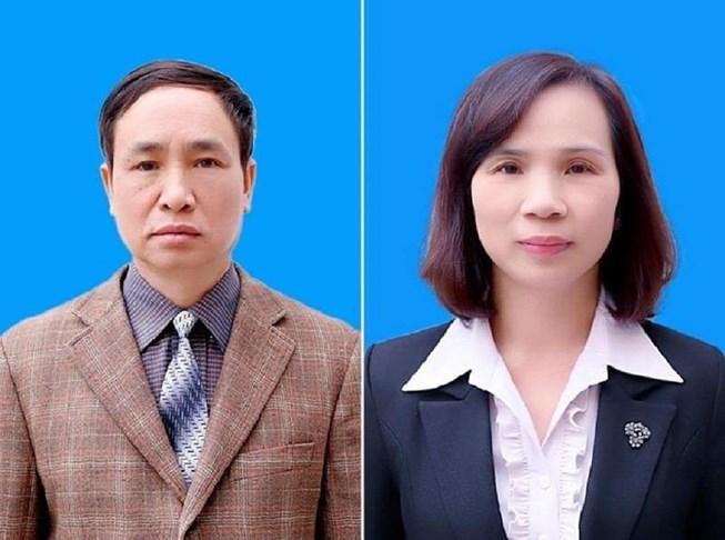 Hai bị can Phạm Văn Khuông và Triệu Thị Chinh.