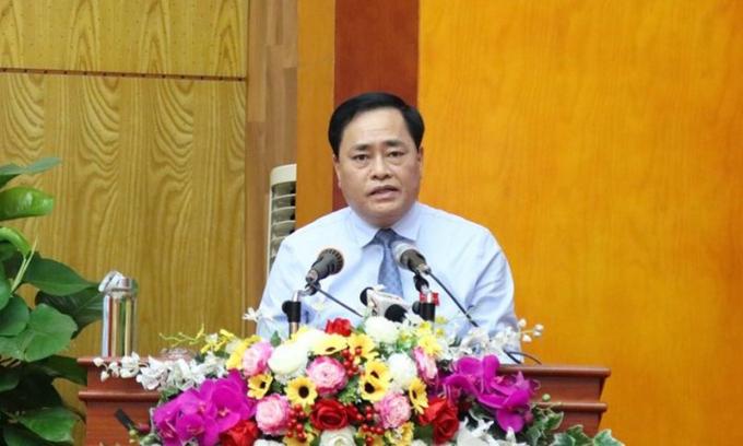 Ông Hồ Tiến Thiệu, Phó Bí thư Tỉnh ủy, Chủ tịch UBND tỉnh Lạng Sơn.