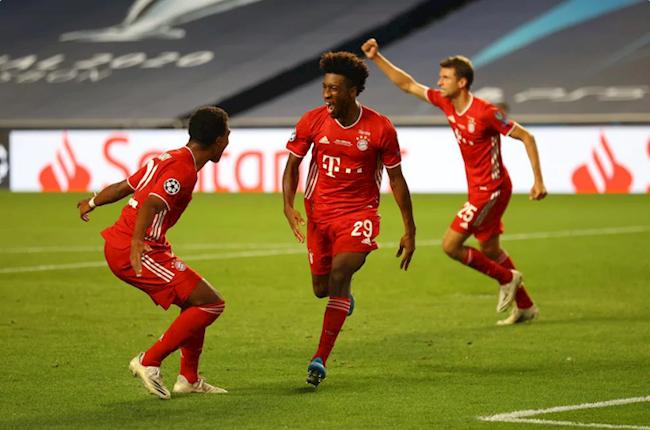 Coman (số 29) mở tỷ số trận chung kết cho Bayern Munich