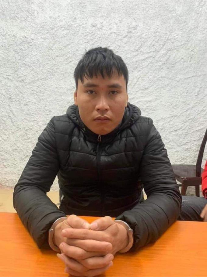 Nguyễn Văn Tùng tại trụ sở công an.