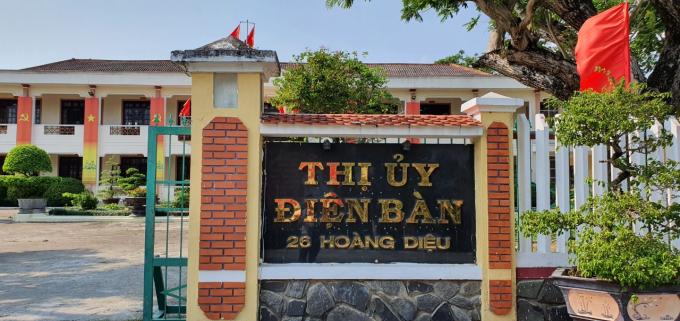 Trụ sở Thị uỷ Điện Bàn.