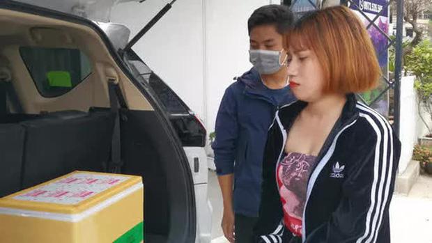 Nguyễn Thị Thái Dung bị công an bắt quả tang