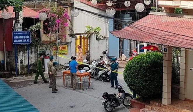 Chốt chặn tại  khu vực tổ 4, phường Tân An,  thị xã Nghĩa Lộ (ảnh Báo Yên Bái)
