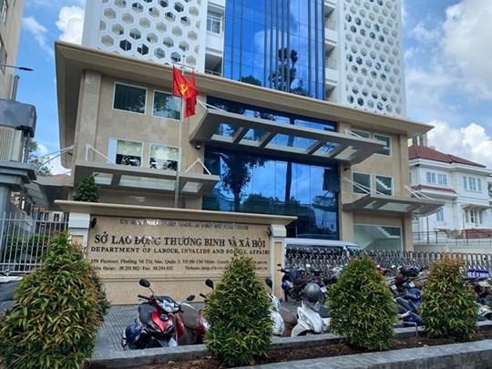 Trụ sở Sở LĐ-TB&XH tại số 159 Đường Pasteur, Phường Võ Thị Sáu, Quận 3, TP HCM.