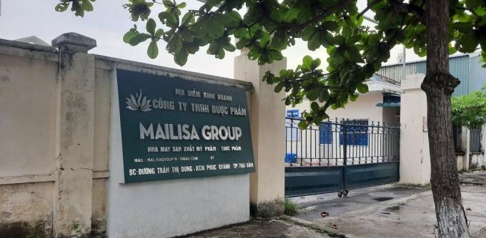 Địa điểm sản xuất thực phẩm, mỹ phẩm của Công ty TNHH Dược phẩm Mailisa tại đường Trần Thị Dung, Thái Bình
