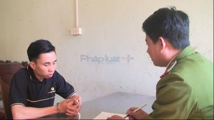 Đối tượng Nguyễn Hùng Cường tại cơ quan CSĐT.