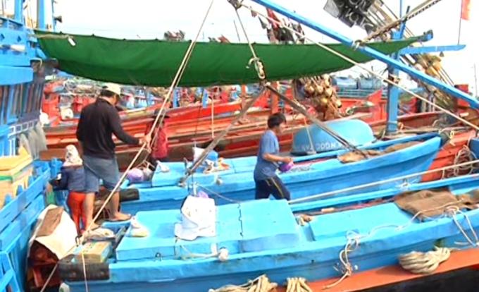 Ngư dân Quảng Ngãi hối hả chuẩn bị phương tiện.