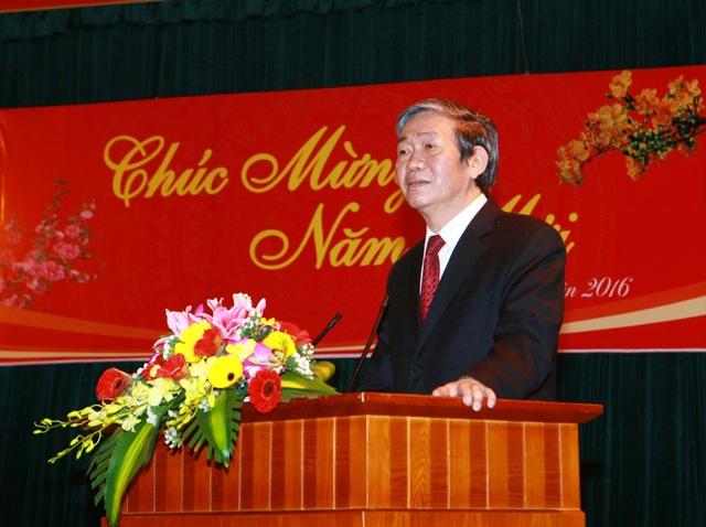 Ông Đinh Thế Huynh, Ủy viên Bộ Chính trị, Thường trực Ban Bí thư phát biểu. Ảnh: Doãn Tấn - TTXVN