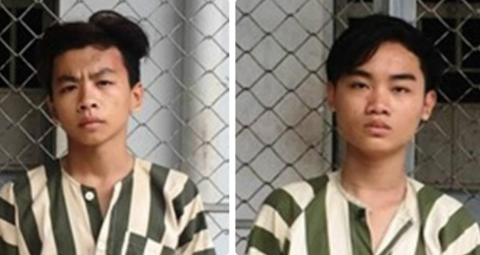 Nguyễn Hữu Thiện Long (SN 2000) và Lâm Quang Thiện (SN 1997, cùng ngụ Q.Gò Vấp).