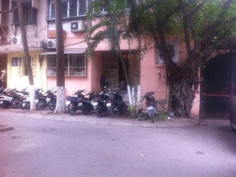 Vị trí trong ngõ 22 - nơi người dân chứng kiến anh Nguyễn Quang Hải bị hành hung.