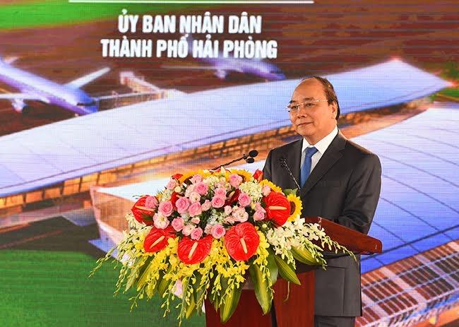 Thủ tướng Nguyễn Xuân Phúc phát biểu tại lễ khánh thành.