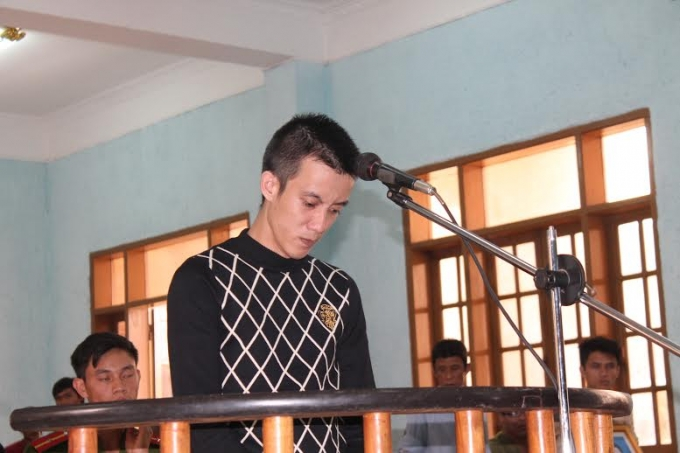 Bị cáo Trương Quang Tịnh trước vành móng ngựa.